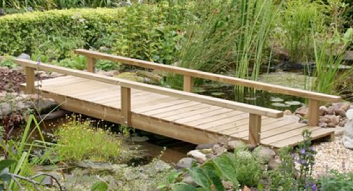 Flat Bridge From Water Feature Design