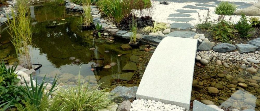 Slate Edged Water Garden