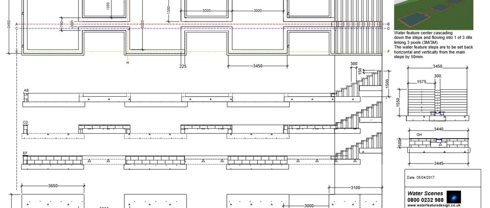 Water Feature Construction Drawing