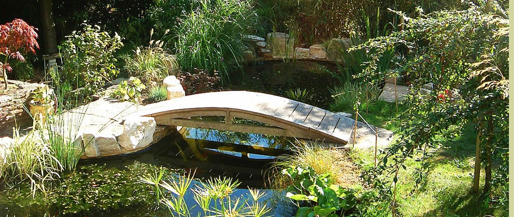Stone garden water feature Dorset