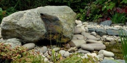 Large rock boulder water feature in Kent.