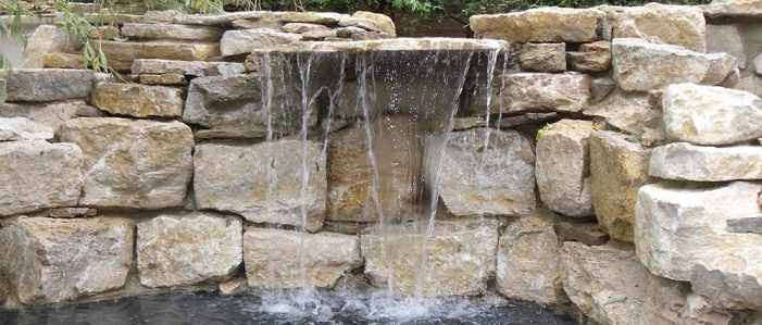 Waterfall water feature London.