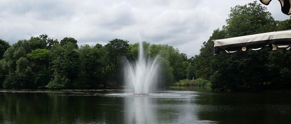 Fixed Lake Fountain Feature
